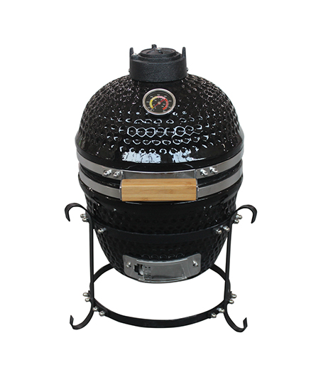 "13""TABLETOP KAMADO WITH SS HINGE(BLACK)"